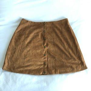Miami Brown Suede Mini Skirt